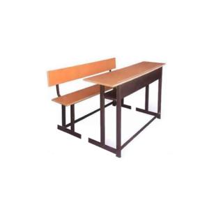 میز و نیمکت مدرسه پشتی دار سه نفره جدا از هم - طول 120 سانتی متر