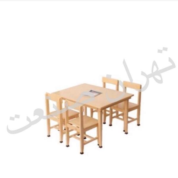 میز مطالعه 4 نفره