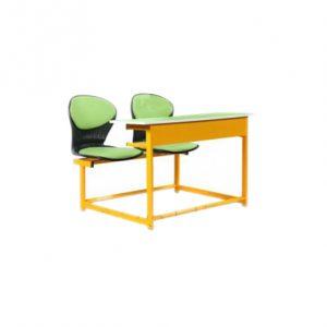 میز-و-صندلی-صدفی-دو-نفره-چهار-پایه-متصل-به-هم-کد